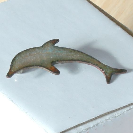 large brooch - pale dolphin £7.50