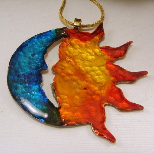 Moon and Sun Pendant Necklace   SecondNatureDesigns - Jewelry on ArtFire