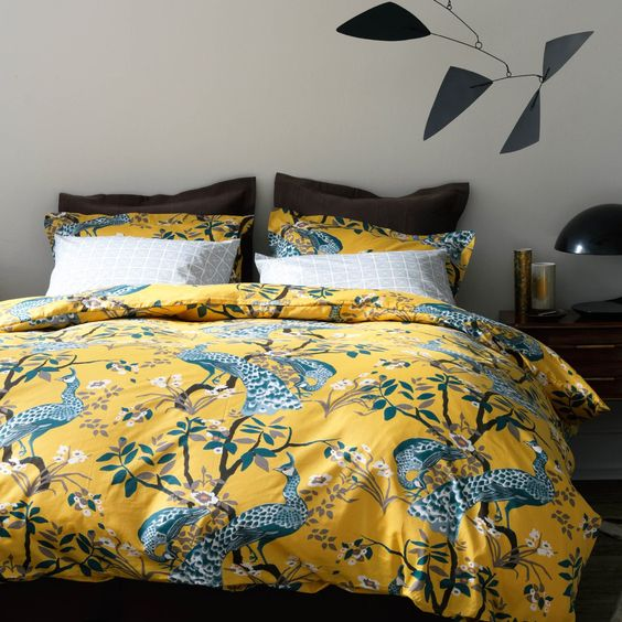 DwellStudio Home Peacock Citrine Duvet Cover Set