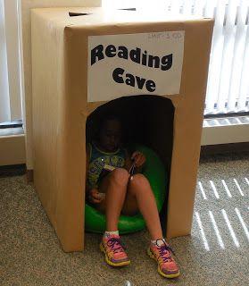 Who didn't love a big box as a kid? Love this idea #ReadingCave  http://sunnydaypublishing.com/books/