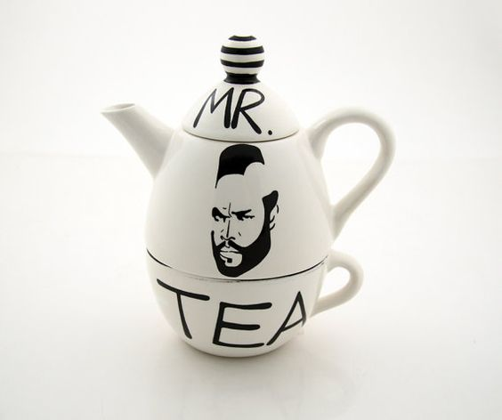 Mr. Tea-time. etsy, $32 I NEED THIS!