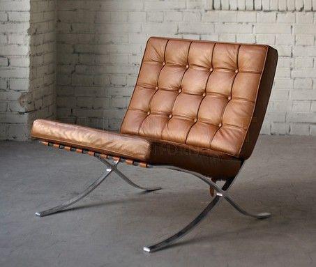 Barcelona Chair cognac - Ludwig Mies van der Rohe: