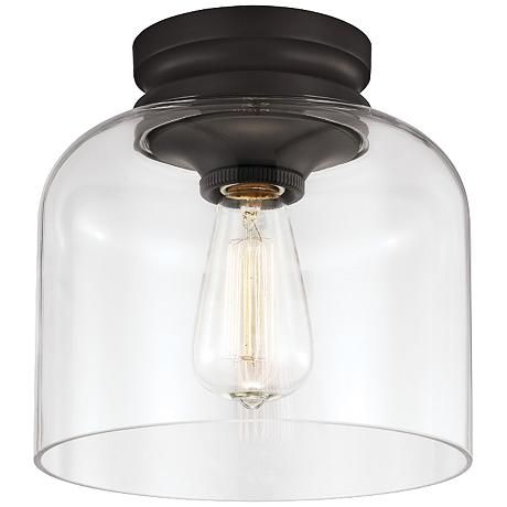 dark oil rubbed bronze finish gives this glass dome ceiling light a more traditional feel ceiling domes with lighting