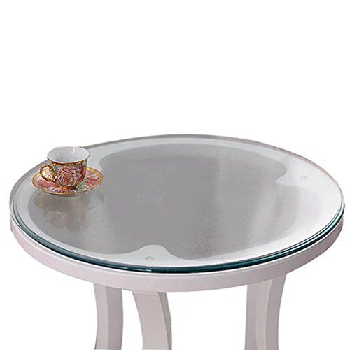 Soft Glass Table Cover Round Clear Table Top Protector Pvc