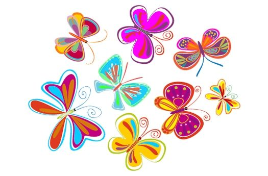 Decoraci n infantil y vinilos decorativos vinilo de for Vinilos mariposas
