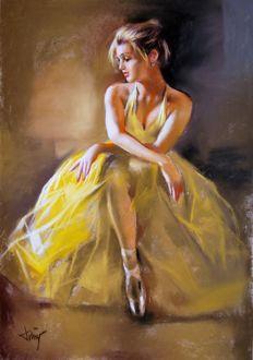 Domingo Alvarez - Barcelona 1.942 - Bailarina. | Pintura de ...