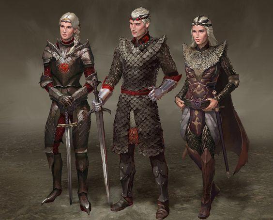 Visenya, Aegon, Rhaenys Targaryen by AndrewRyanArt