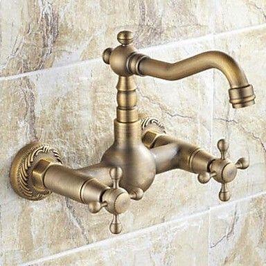 Antique inspiré robinet de cuisine - Wall Mount (fini laiton antique – EUR € 68.76