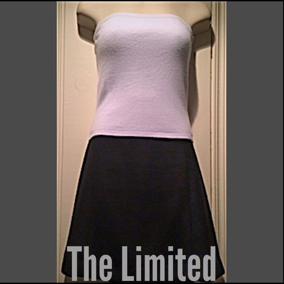 The Limited Strapless Top Light bluish gray color with stretchy fabric. Super comfortable! Looks great dressed up with a skirt or with a pair of jeans and a blazer. The Limited Tops