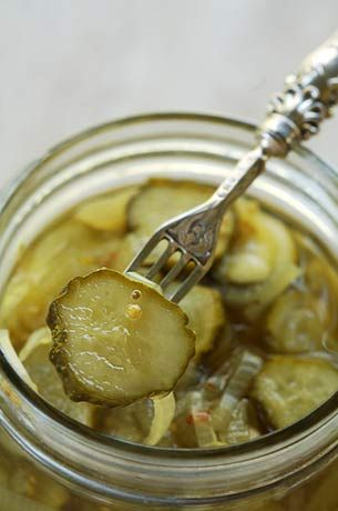 Bread and Butter Refrigerator Pickles. Great Southern dish