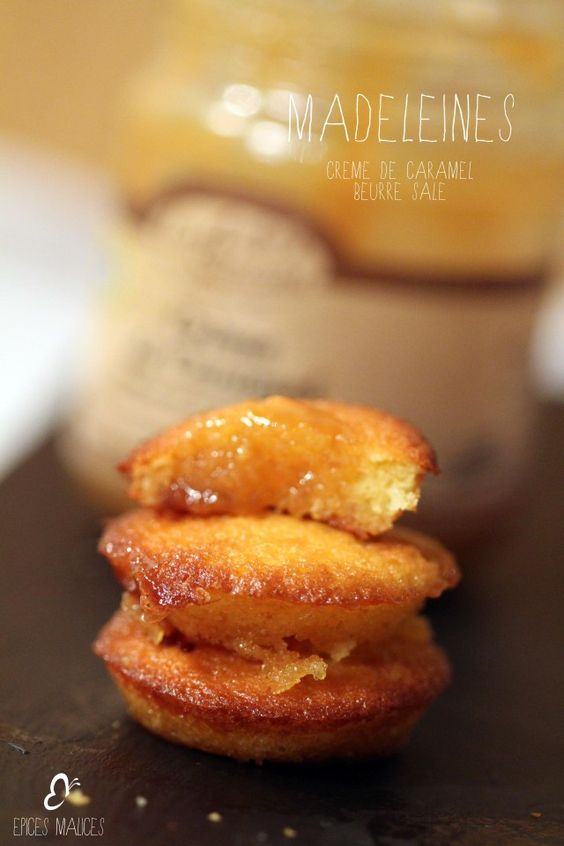 la recette remonte-moral express : Madeleines coeur fondant au caramel beurre salé (recette en français)