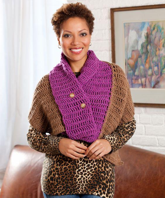 Convertible Cape Crochet Pattern | Red Heart | crochet | Pinterest ...
