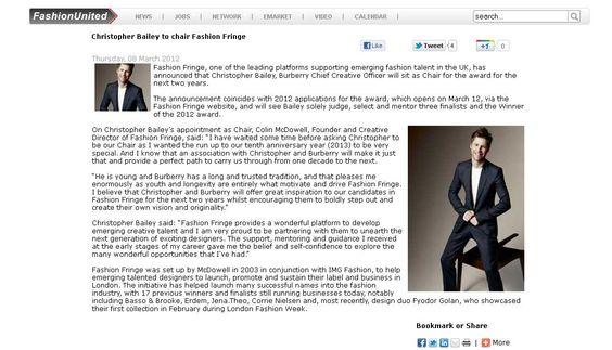 Fashion Fringe 2012 Launch - Fashion United