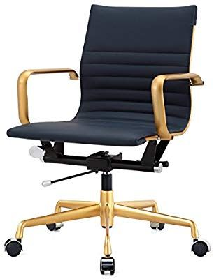 Amazon Com Meelano 348 Gd Gry M348 Home Office Chair Gold Grey Kitchen Dining Contemporary Office Chairs Modern Office Chair Home Office Chairs