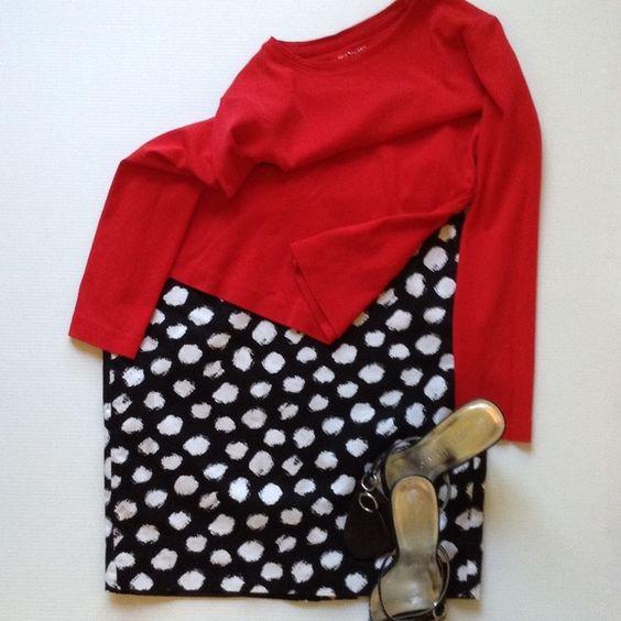 Loft Fully lined cotton skirt...back zip...back kick pleat...machine wash :) LOFT Dresses