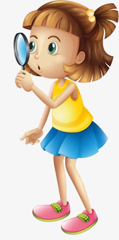 خذ فتاة مكبرة فتاة كرتون مرسومة باليد Png وملف Psd للتحميل مجانا Cartoon Girls Illustration Kids Colouring Printables