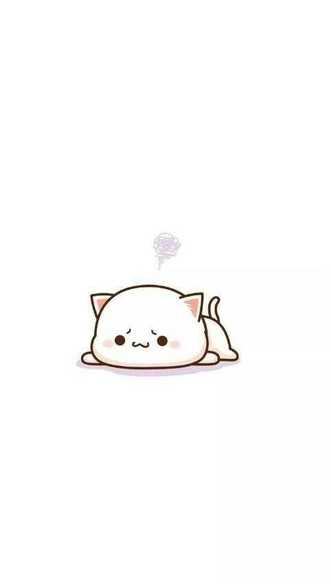 Wallpaper Kucing Kartun Pink