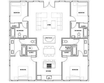 30x20 House 2 Bedroom 1 Bath 600 Sq Ft Pdf Floor Plan Etsy In 2021 Custom Home Plans House Plans For Sale Bedroom House Plans