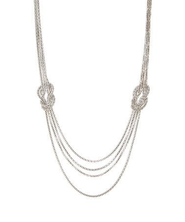 Another great find on #zulily! Silvertone Multi-Strand Knot Necklace #zulilyfinds