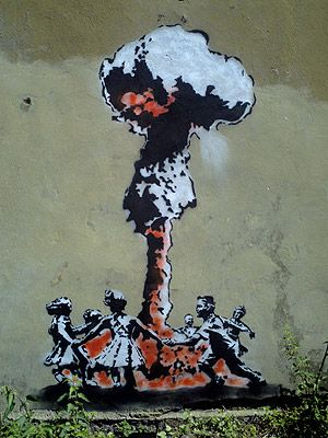 """""""I mean, they say you die twice. One time when you stop breathing and a second time, a bit later on, when somebody says your name for the last time.""""     Banksy"""