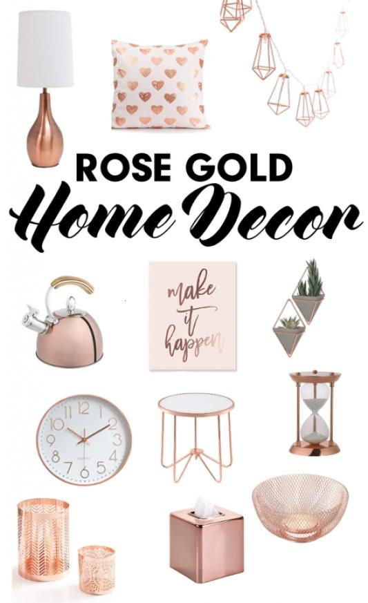 Rose Gold Accent Pieces Homeaccents Home Accents Pieces In 2020 Gold Home Decor Rose Gold Decor Gold Room Decor