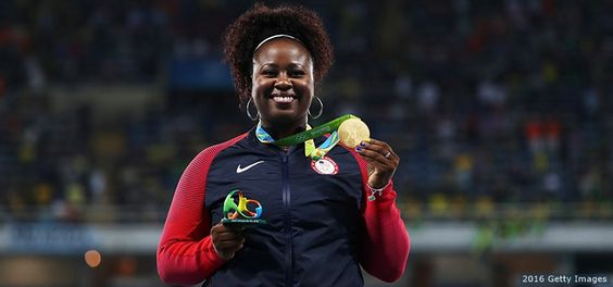 GOLD! Michelle Carter: Shot Put 20.63M... Carter, 30,  set another mark at her 3rd Olympics: She and her father, Michael, become Team USA's 1st father-daughter combination to medal at the Olympics! Via www.npr.org/.../michelle-carter-wins-team-usas-first-gold-in-womens-s... Aug 13, 2016 - With a final, herculean hurl, Michelle Carter scored a GOLD Medal in Rio — a first for any U.S. woman... Rio 2016 Olympic Games at the Olympic Stadium on Aug. 13, 2016.