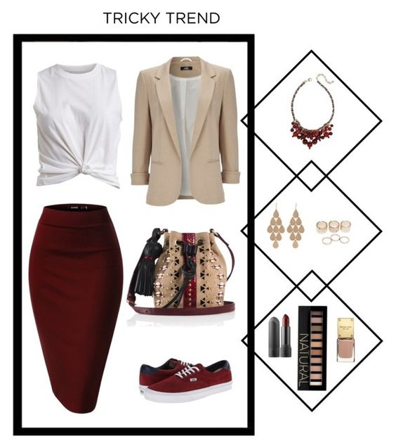 """Contest: Pencil Skirt with Sneakers"" by erinlindsay83 ❤ liked on Polyvore featuring VILA, Vans, Tamara Mellon, Wallis, Irene Neuwirth, Wet Seal, Talbots and Forever 21"
