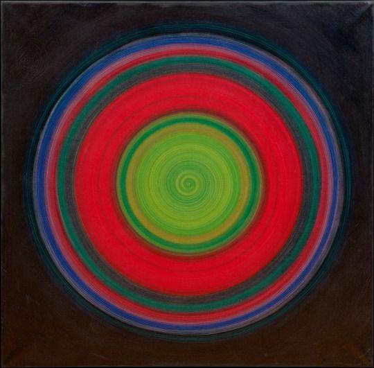 Robert Rotar. Ohne Titel, Rotation Grün, Rotation Blau, Fliehkraftspirale, Rotation. 1966-1969