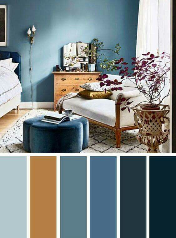 Colour combination in 2019 | Brown bedroom colors, Living ...