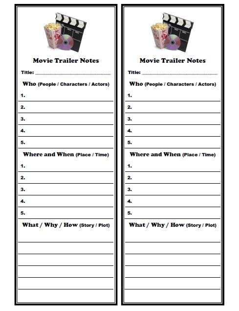 Printables Worksheets For Esl Students movies esl and note on pinterest movie trailer notes for students httpwww eslmovie com