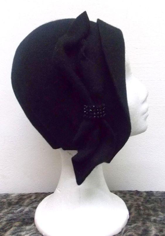 Sombrero cloché estilo vintage años 20 de por LidiaArtThings