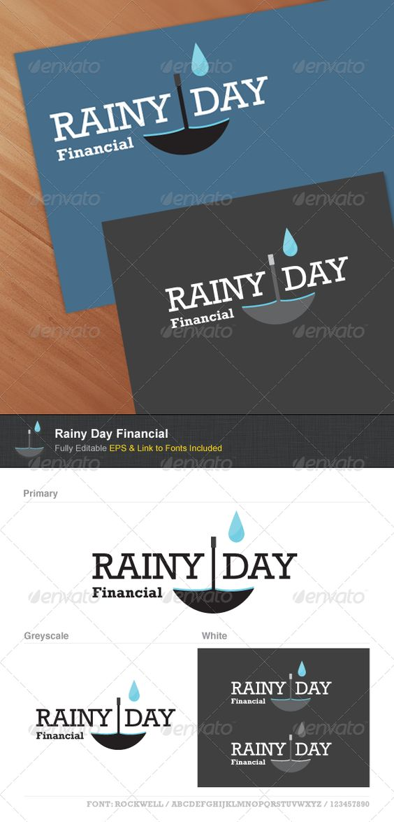 Rainy Day Financial Font logo, Logo templates and Logos - financial plan template