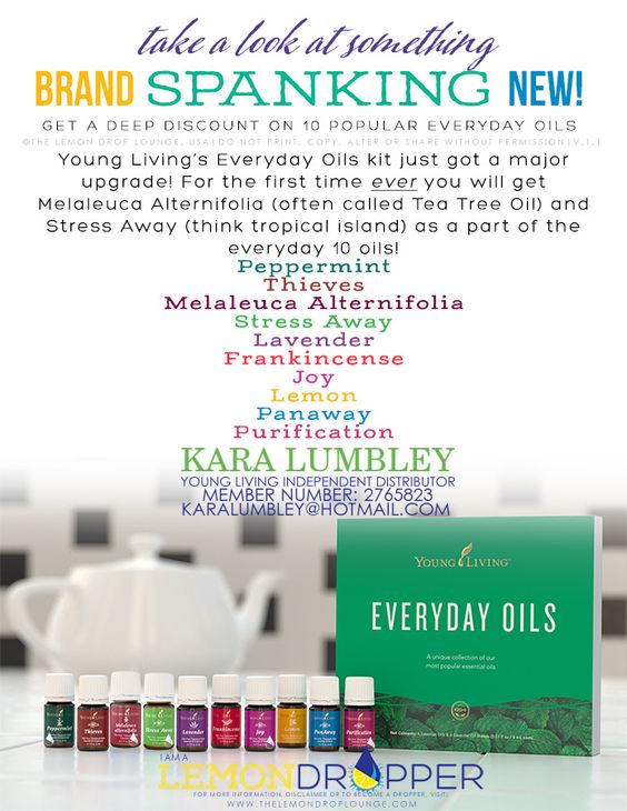 Uses for the Every Day oils in the Premium starter kit young living!