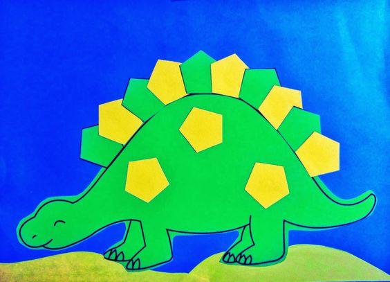 twanneke, dinosaur, shapes, pentagon shapes | DinosaurThem ...