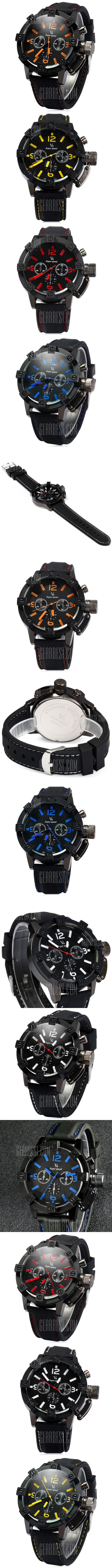 V6 V0045 Large Crown Japan Quartz Male Watch Sports Wristwatch - FREE SHIPPING - Price: $7.20 - Buy Now: https://ariani-shop.com/s/122354