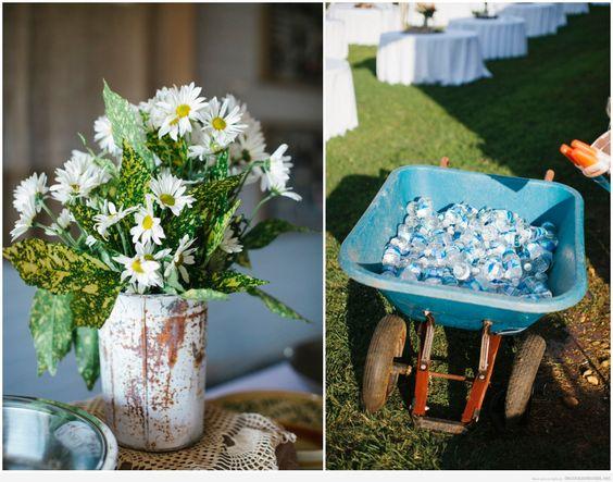 Ideas originales para decorar una boda estilo rústico en el jardín