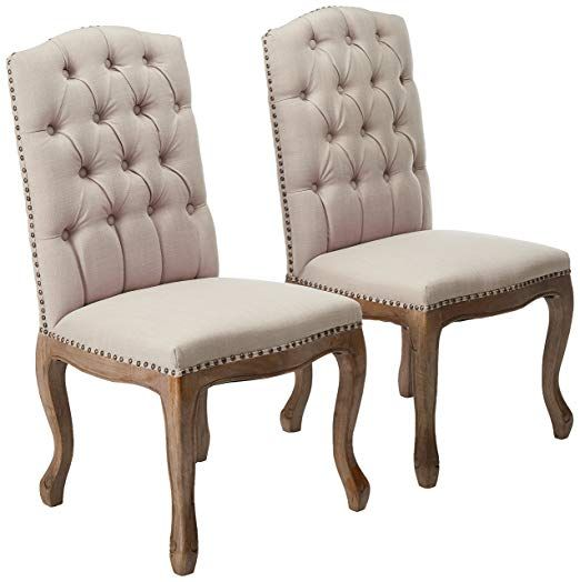 Jolie French Design Weathered Wood Dining Chairs Set Of 2 French Country Furniture French Country Dining Chairs Dining Chairs