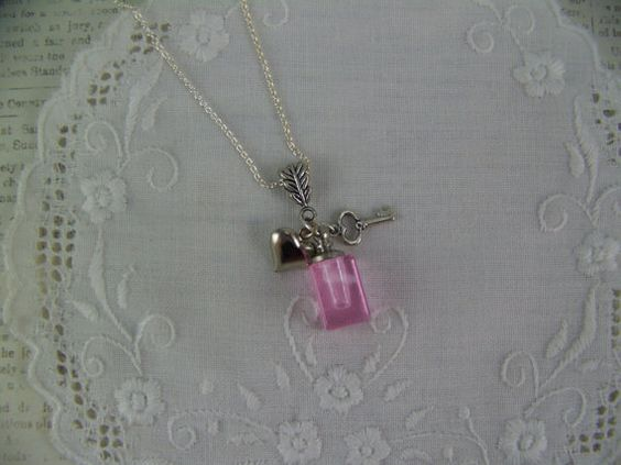 Glass Vial Necklace Perfume Necklace Bottle by CreatedinTheWoods, $17.95