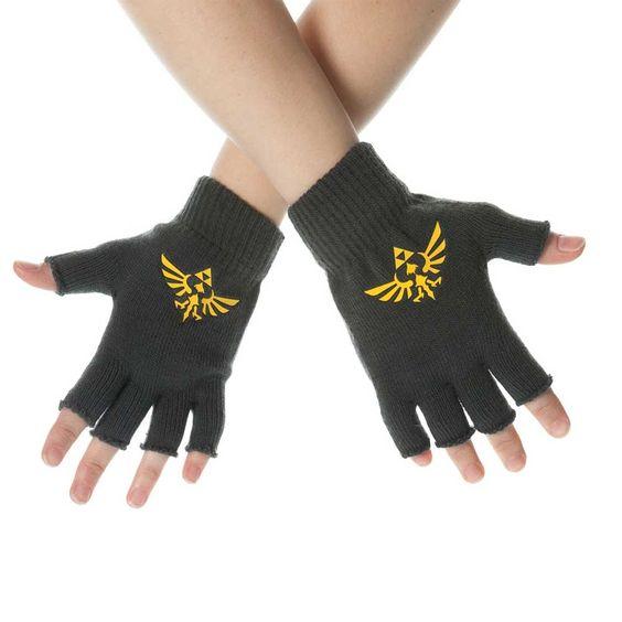 Zelda Logo vingerloze handschoenen groen - Games merchandise