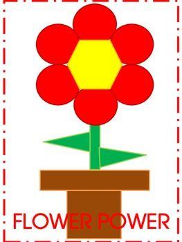 Flower Power Geometric Common Core Kindergarten 2D Shapes ...