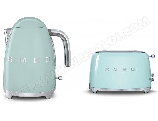 Ce pack comprend : Bouilloire SMEG (1), Grille pain SMEG (1).