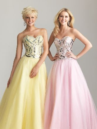 Sweetheart Satin/Tulle Floor Length Evening Dresses 6629 - multiple colors - $159.99