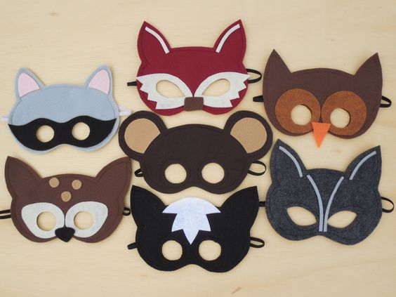 Child Size Woodland Masks with US Priority Mail Shipping Fees As Seen In Parenting Magazine by Mahalo on Etsy https://www.etsy.com/listing/109458525/child-size-woodland-masks-with-us