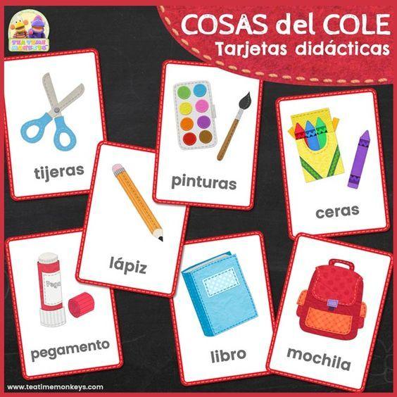 Cosas Del Cole Tarjetas Didácticas Tea Time Monkeys Tarjeta Didáctica Material Didactico Para Niños Tarjetas