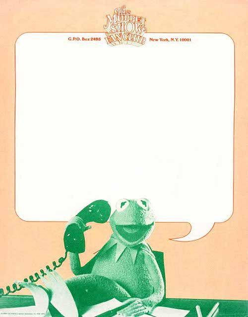 Muppet Show fanclub letterhead, from Letterheady