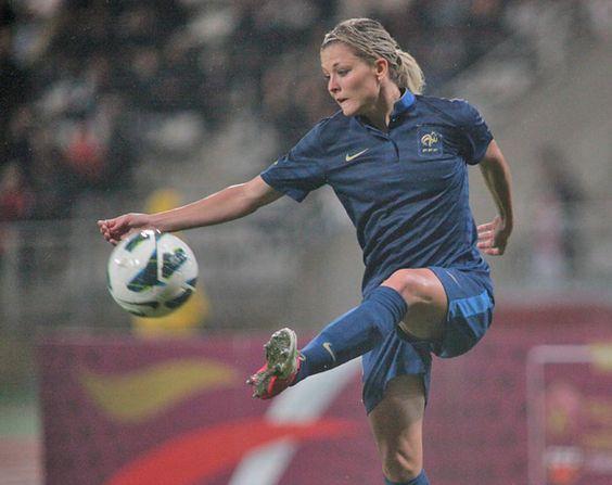 Laure Bouleau, arrière latérale gauche de l'équipe de France de Football Féminine. France Vs England (2/2) Photo F.F.F.