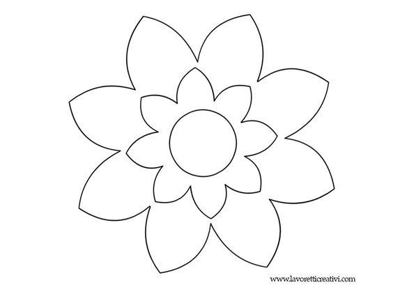Fiori da colorare 8 petali kvety pinterest for Fiori grandi da colorare