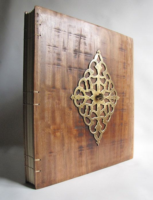 Photo Album Big Book Wedding Wood Covers By Lacunawork EUR20000
