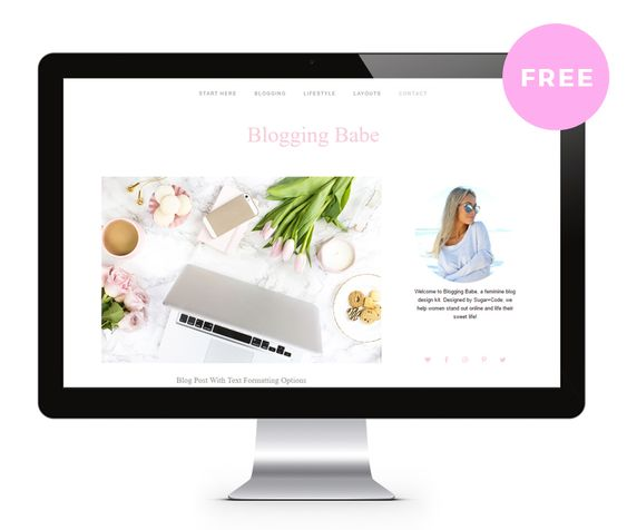 free-wordpress-theme-blogging-babe.jpg (800×676)