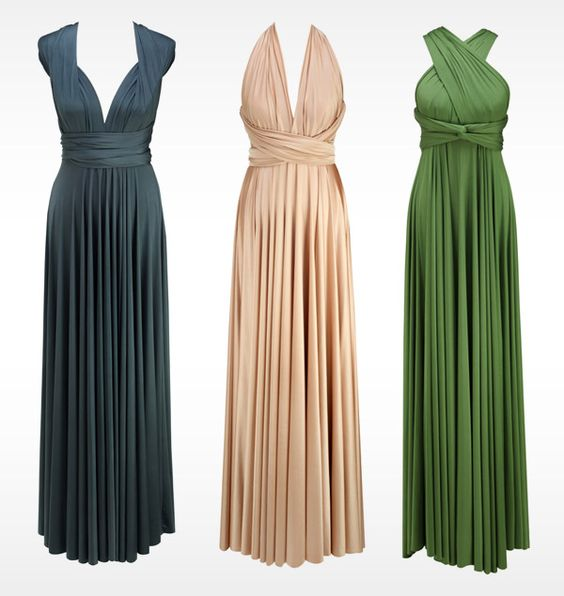Lovely and simple: Long Dresses, Wrap Dresses, Convertible Dress, Wedding Ideas, Birds Bridesmaid, Bridesmaids Dresses, Birds Dresses, Long Bridesmaid Dresses